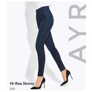 AYR high-rise skinny jeans indigo color 25 x 30